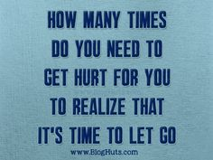 It Is Time To Let Go