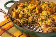 Cranberry Recipes, Fall Recipes, Fluffy Cornbread Recipe, Stuffing Recipes, Sausage Stuffing, Cornbread Stuffing, Thanksgiving Side Dishes, Side Dish Recipes, Casserole Dishes