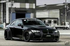 BMW E92 M3 black widebody I like - http://extreme-modified.com/