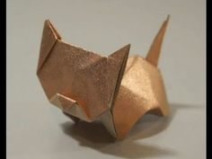 The Art of Paper Folding - How to Make an Origami Money Cat