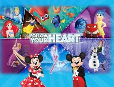 Disney On Ice Presents Follow Your Heart Tour  SEPT 22-25  MULTIPLE TIMES AND DATES ON EACH DAY AVAILABLE   305-395-4488 find out what dates and times best fits you!