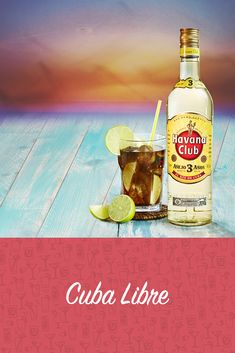 Havana Club Cocktail, Cuba Libre Cocktail, Rum Cocktails, Wine Drinks, Alcoholic Drinks, Mojito Drink, Vintage Cuba, Lily And Val, Cuban Art