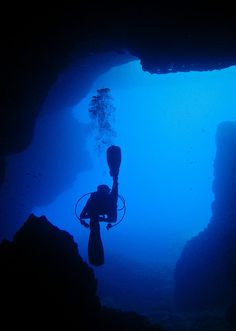 Malta's rocky coast has a playground of tunnels, reef wrecks and caves to explore. Most of the best sites are accessible from the shore. Well known diving sites such as Inland Sea and the nearby Blue Hole and Azure Window are located in the region near #Gozo │ #VisitMalta visitmalta.com