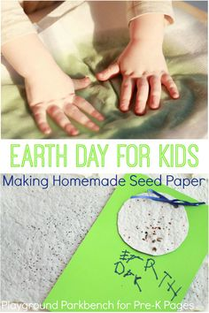 Earth Day Project: Homemade Seed Paper. The perfect project to introduce your preschool or kindergarten kids to Earth Day! - Pre-K Pages