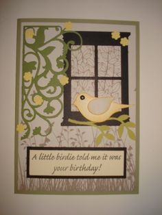 Still enjoying my Stampin Up bird punch...and my friend's window die...I must get one of my own.