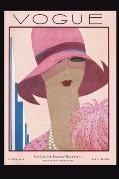 lady in pink, illustration, vogue,
