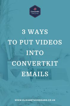 Want to add videos to your emails? Here are 3 different ways you can put videos into ConvertKit emails. #ConvertKit #ConvertKitTips #EmailMarketing #Survey #BusinessStrategy #SmallBusinessTipsAndTricks #OnlineBusinessTips