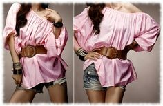 Pink Off Shoulder Blouse ($25)