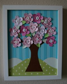 Always Spring Tree adorned with buttons by studiohappynest on Etsy, $50.00