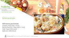 Meeresfrüchte, entweder man mag sie oder nicht, dennoch bieten sie eine super Eiweissquelle und auch Abwechslung in der Ernährung😋 Das Rezept für das Schrimps-Gratin findest du hier Super, Oatmeal, Vegetables, Breakfast, Food, Gratin, Food Portions, Recipies, The Oatmeal