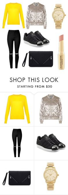 """""""Untitled #228"""" by pauuulis ❤ liked on Polyvore featuring Topshop, adidas Originals, Michael Kors and Napoleon Perdis"""