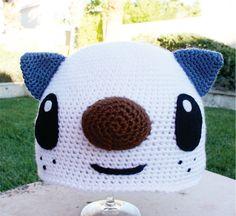 Oshawott Sea Otter Inspired Hat: Pokemon -ish Cartoon Kawaii Handmade Crochet Beanie Hat. $27.00, via Etsy.