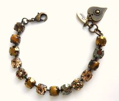 Fall colors Swarovski crystal bracelet brown and by SiggyJewelry, $45.00  Sabika inspired