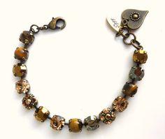 Fall colors Swarovski crystal bracelet brown and by SiggyJewelry, $45.00  Sabika inspired
