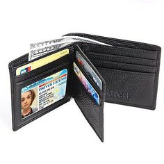 Hoobest RFID Blocking Leather Wallet For Men- Excellent Trifold Wallet