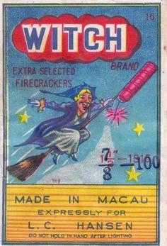 Vintage Chinese firecracker label-art