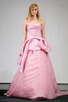 Vera Wang's Fall 2014 Bridal Collection Features All Pink Dresses
