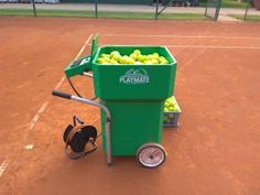Top AC/DC powered tennis ball machine from Playmate. Check the details. Metal Company, Tennis Accessories, Machine Service, Tennis Clubs, Club Design, Ac Dc, Check, Top, Gifts