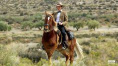 Dr. Who Matt Smith on a horse!