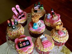 Spa party cupcakes #spa #party #cupcakes