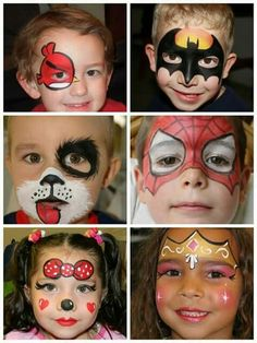 - Hobbies paining body for kids and adult Face Painting Tutorials, Face Painting Designs, Body Painting, Face Painting Halloween Kids, Painting For Kids, Pinterest Halloween, Maquillage Halloween, Halloween Face Makeup, Costume Makeup