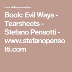 Book: Evil Ways - Tearsheets - Stefano Pensotti - www.stefanopensotti.com