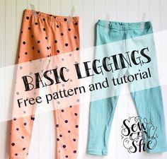 Basic Leggings for Girls Sizes 2- 12