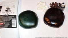 How to make homemade black fondant by Angela Tran (Sugar Sweet Cakes). Recipe link:  http://sugarsweetcakesandtreats.blogspot.com/2010/11/recipe-red-marshmallow-fondant-mmf.html