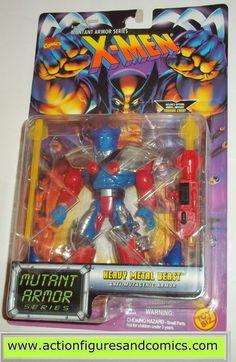 X-MEN X-Force toy biz BEAST HEAVY METAL mutant armor 1996 marvel universe moc mip mib action figures