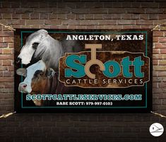 Vinyl Banners, Cattle, Email Marketing, Ecommerce, Signage, Schedule, Ranch, Management, Social Media