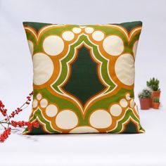 70s Mid Century Modern Retro decorative pillow cover - 40x40 cm - 16x16 - pinned by pin4etsy.com