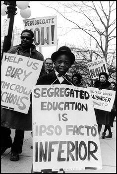 Small boy demonstrating against segregated education. Englewood, New Jersey: 1966. (Bob Adelman) RP by DCH Paramus Honda Team Leader CJ Slitas http://cj-slitas.dchparamushonda.com