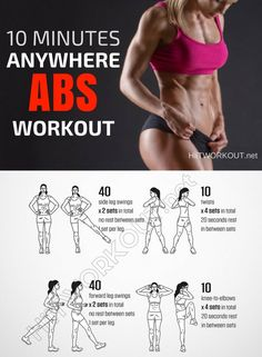 10 Minutes Anywhere Abs Workout