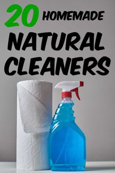 More than 20 recipes for homemade natural cleaning products. Get rid of harmful chemicals in your home and replace them with organic all natural alternatives! All Natural Cleaning Products, Diy Cleaning Products, Cleaning Solutions, Cleaning Hacks, Homemade Cleaning Wipes, Cleaners Homemade, Carpet Freshener, Natural Carpet, Cleaning Chemicals