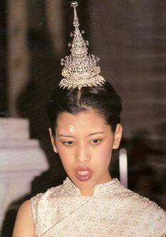 HRH Princess Chulabhorn of Thailand in her wedding day.