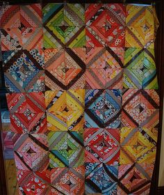 string quilt - top finished by ImAGingerMonkey, via Flickr