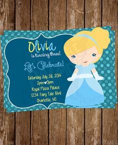 Cinderella Birthday Invitation  Hey, I found this really awesome Etsy listing at https://www.etsy.com/listing/189546595/princess-birthday-invitation-printable