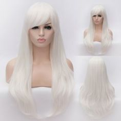 SHARE & Get it FREE | Lolita Style Trendy Side Bang White Long Wave Heat Resistant Synthetic Capless Cosplay WigFor Fashion Lovers only:80,000+ Items • FREE SHIPPING Join Nastydress: Get YOUR $50 NOW!