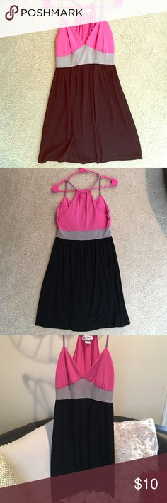 Self Esteem Pink and Black dress This dress is a size Medium. It is a shorter styled dress, lightly worn a few times. Great for a casual outfit! Self Esteem Dresses