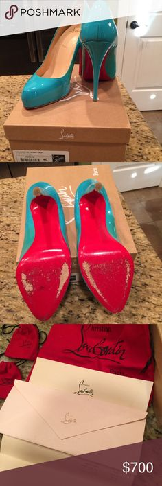 Christian Louboutin Rolando 120 Worn once inside- all original dust bags and heel stubs. Receipt still in box Christian Louboutin Shoes Heels