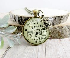 Firefly Keychain Dreams Are Like Fireflies Southern Inspired Country Girl Pendant Lantern Rustic Womens Jewelry