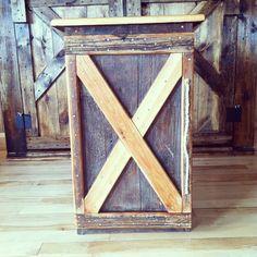 Rustic Reclaimed Barn Wood Storage Cabinet, Garbage Can Trash Bin Storage - Reclaiming America $150