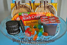 Crafty Confessions: Mini Mud Pies perfect for a fun camping treat!