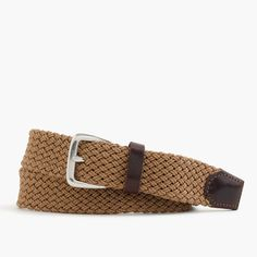 Inspired by the styles seen around the harbor, this braided belt is for the guy hoping to nail the look of someone who knows his port from his starboard. S = 30-32, M = 34-36, L = 38-40. Width: 1 3/8. Cotton. Nickel buckle. Made in the USA.