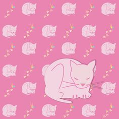 FREE printable pink #cat #pattern paper and embellishment – gift wrapping paper