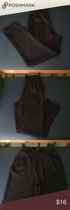 Highest Rise Dress Pants In great used condition, no rips but in photo 2 you can see a white mark by the pocket. Elastic band fits a little under the bust line. Mustard Seed Pants
