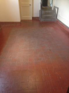 Quarry Tiles are an unglazed ceramic material and are very absorbent so it is important to clean them and seal them regularly. Quarry Tiles, Kitchen Flooring, Stone Tile Flooring, Stone Tiles, Cleaning Solutions, Cleaning Hacks, Cleaning Tile Floors, Ceramic Materials, Houses