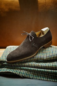 1 Eyelet in Suede Model 506 by Saint Crispin's Made to Measure at The Armoury