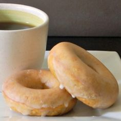 Baked Pumpkin Donuts - Low-fat, low-calorie baked pumpkin donuts with a sweet vanilla glaze