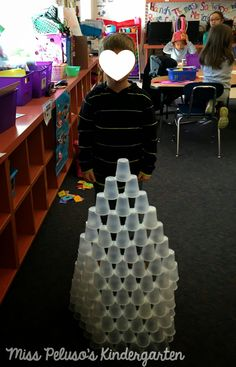 100th day of school- Build a structure with 100 cups! Great blog post with a FREEBIE and other ideas!